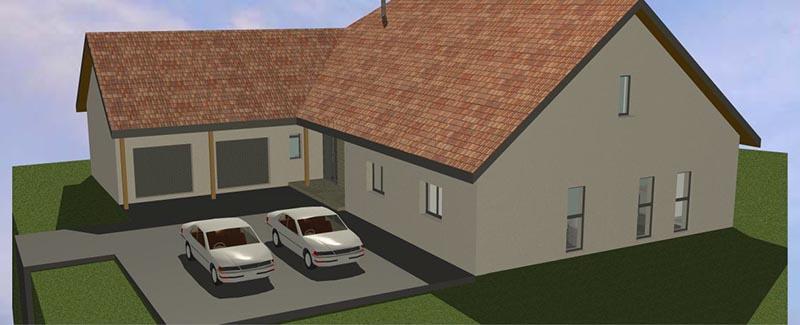 Conception D'Une Maison Toiture À Forte Pente – Architecture Du Jura